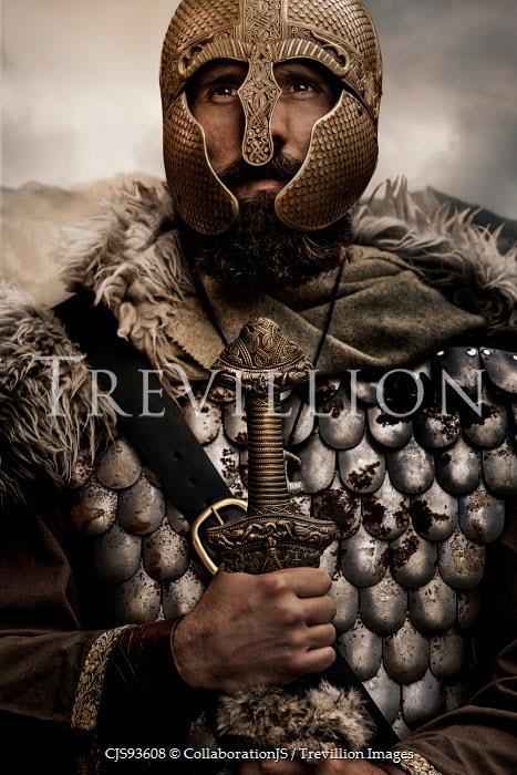 CollaborationJS A close up of a viking warrior Men