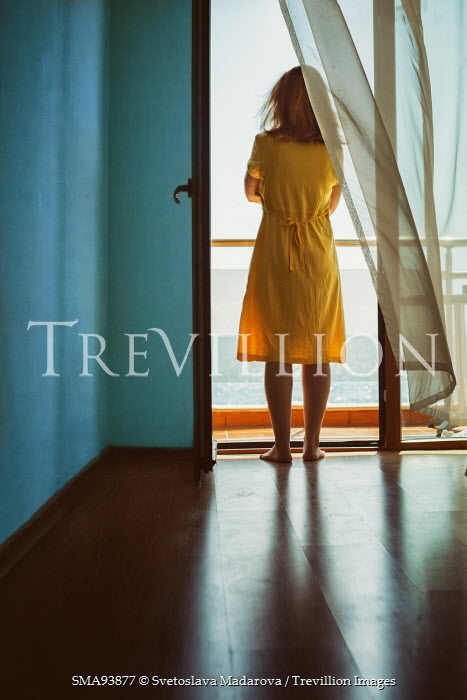 Svetoslava Madarova WOMAN BY WINDOW WATCHING SEA Women