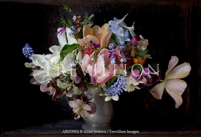 Allan Jenkins FLOWERS IN PEWTER VASE Flowers