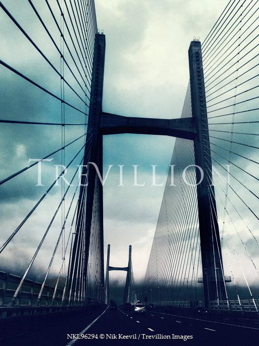 Nik Keevil MODERN STEEL SUSPENSION BRIDGE Bridges