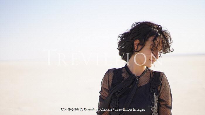 Esmahan Ozkan WOMAN ON SANDY BEACH Women