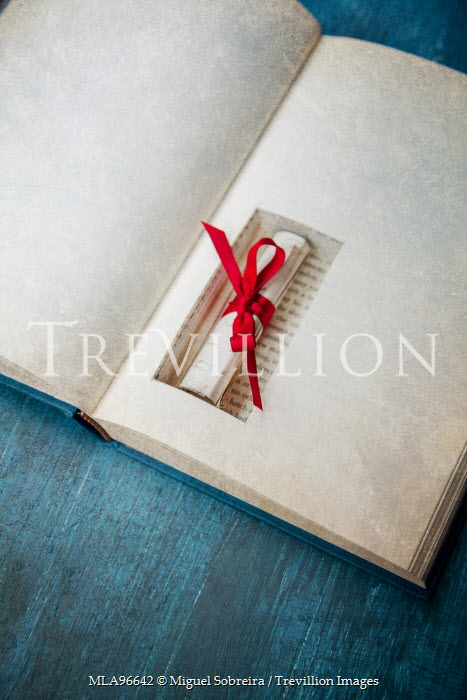 Miguel Sobreira OLD LETTER WITH RED RIBBON HIDDEN IN BOOK Miscellaneous Objects
