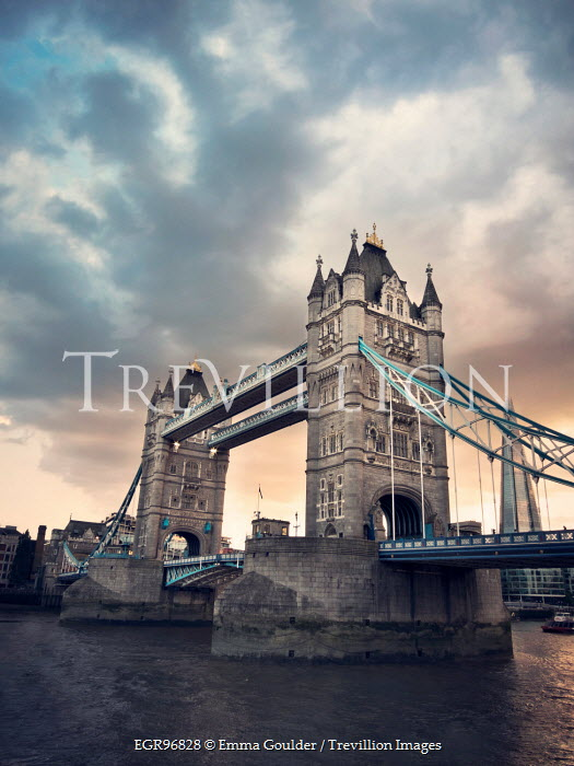 Emma Goulder TOWER BRIDGE WITH STORMY SKY Miscellaneous Cities/Towns
