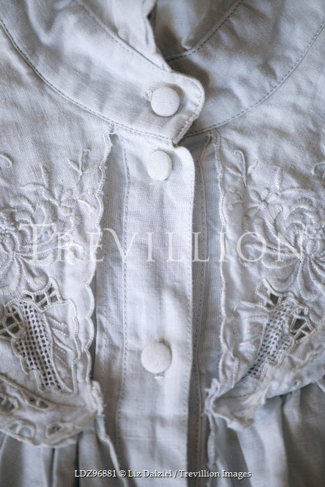 Liz Dalziel CLOSE UP OF WHITE LACY BLOUSE Miscellaneous Objects