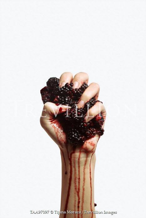 Tijana Moraca FEMALE HAND SQUEEZING BLACKBERRIES Women