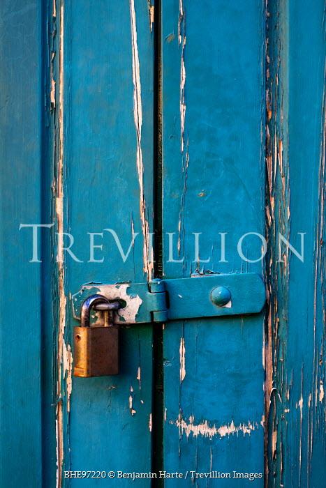 Benjamin Harte PADLOCK ON BLUE DOOR Miscellaneous Objects