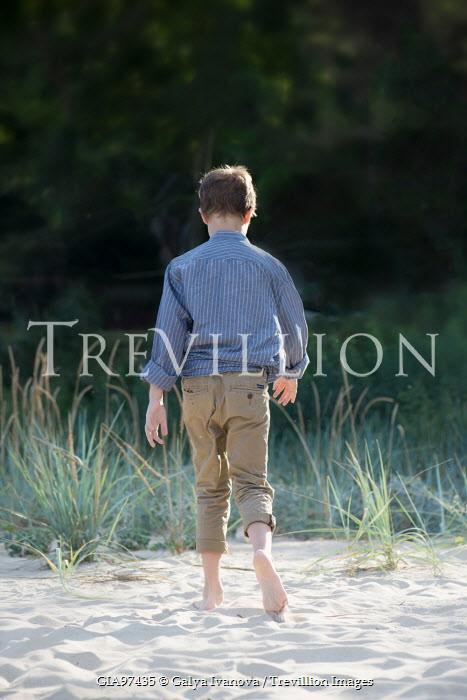Galya Ivanova BOY WALKING ON SAND FROM BEHIND Children