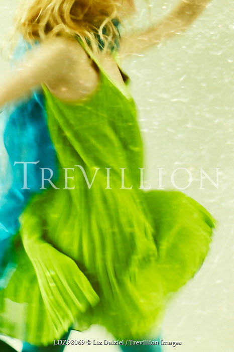 Liz Dalziel BLONDE GIRL IN GREEN DANCING Women