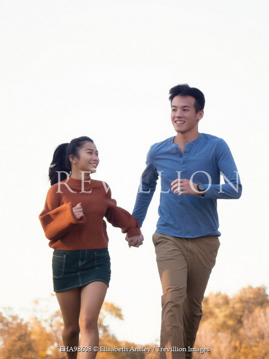 Elisabeth Ansley HAPPY ASIAN COUPLE RUNNING IN COUNTRYSIDE Couples