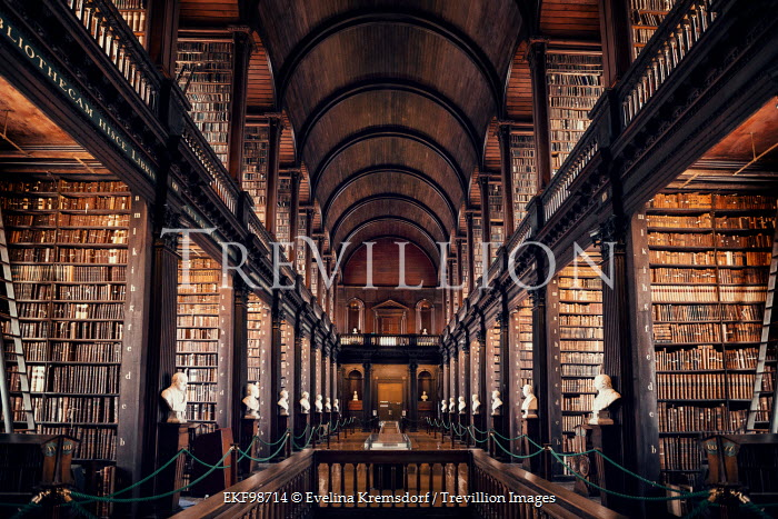 Evelina Kremsdorf INTERIOR OF GRAND HISTORICAL LIBRARY Interiors/Rooms
