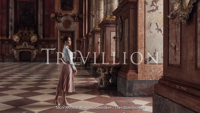 Maxim Guselnikov SERIOUS WOMAN STANDING IN GRAND PALACE Women