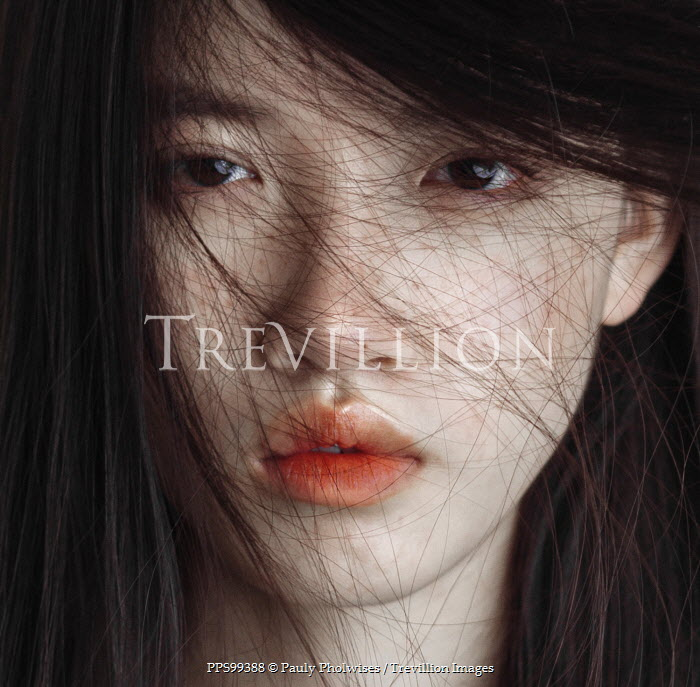 Pauly Pholwises FACE OF ASIAN GIRL COVERED WITH HAIR Women