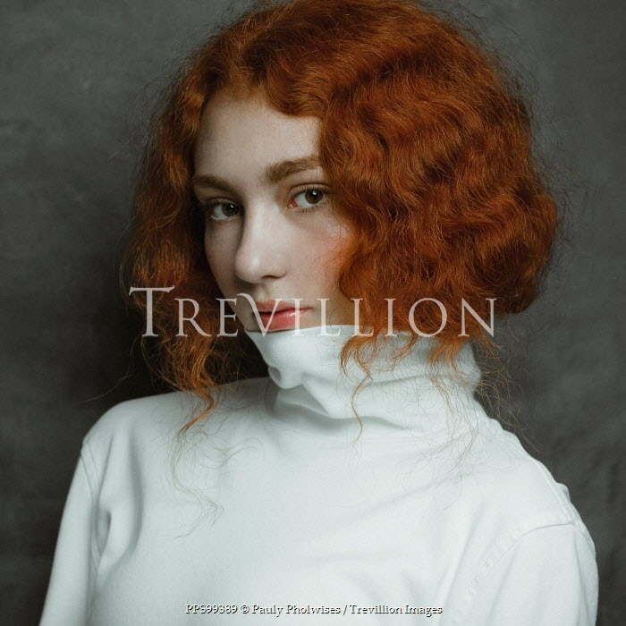 Pauly Pholwises SERIOUS GIRL WITH WAVY RED HAIR Women