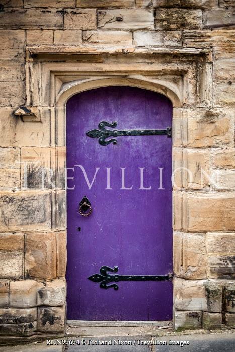 Richard Nixon HISTORIC PURPLE DOOR AND STONE WALL Building Detail