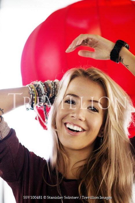 Stanislav Solntsev HAPPY BLONDE WOMAN WITH BRACELETS Women