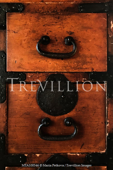 Maria Petkova CLOSE UP OF ANTIQUE WOODEN DRAWERS Miscellaneous Objects