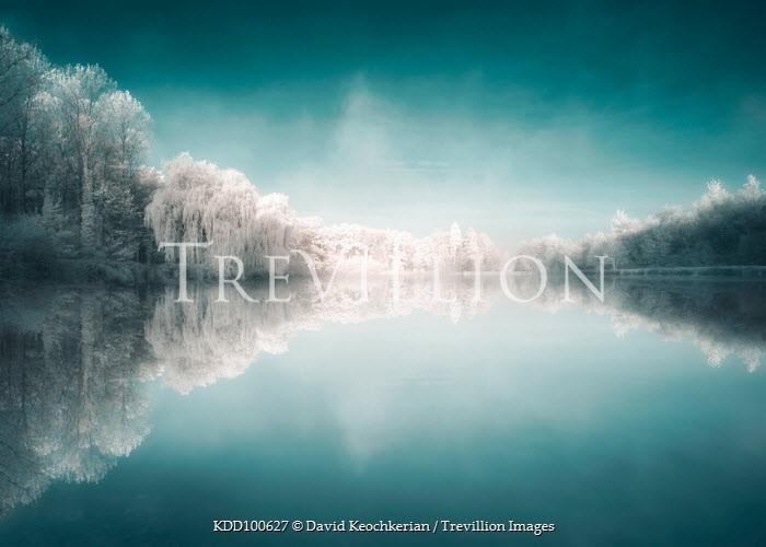 David Keochkerian CALM LAKE WITH SNOWY TREES Lakes/Rivers