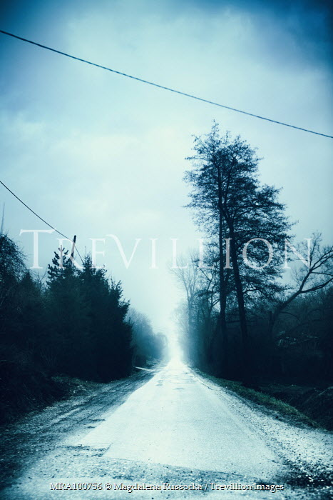 Magdalena Russocka suburban road in winter Paths/Tracks