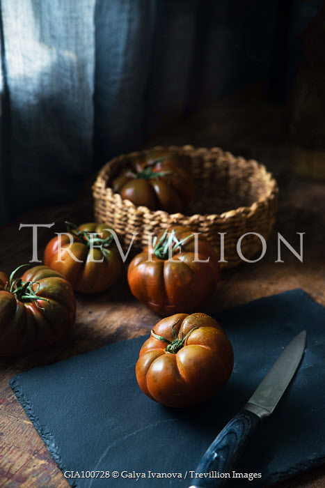 Galya Ivanova PUMPKINS WITH BASKET AND KNIFE Miscellaneous Objects