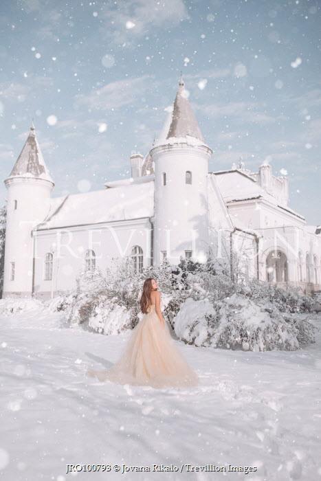 Jovana Rikalo WOMAN WEARING GOWN IN SNOW Women