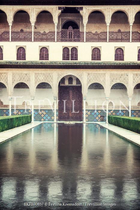 Evelina Kremsdorf ORNATE PALACE WITH POOL IN RAIN Houses