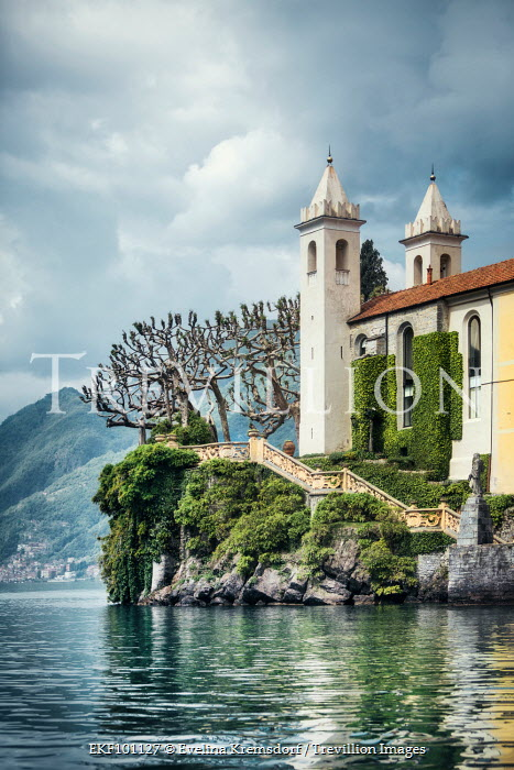 Evelina Kremsdorf CHURCH ON THE SHORE OF LAKE COMO Religious Buildings