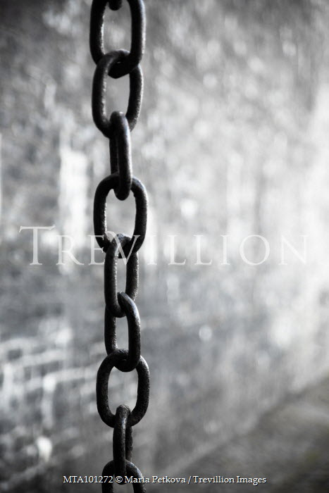 Maria Petkova METAL CHAIN BY WALL OUTSIDE Miscellaneous Objects