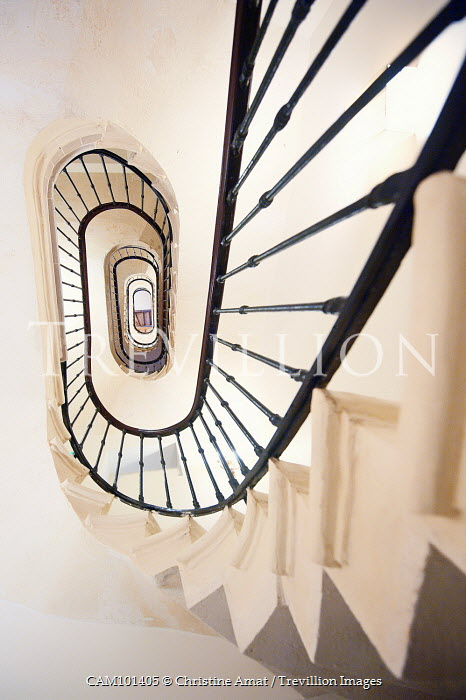 Christine Amat RETRO STAIRCASE FROM BELOW Stairs/Steps