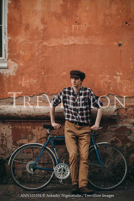 Arkadiy Nigmatulin RETRO YOUNG MAN WITH BICYCLE Men