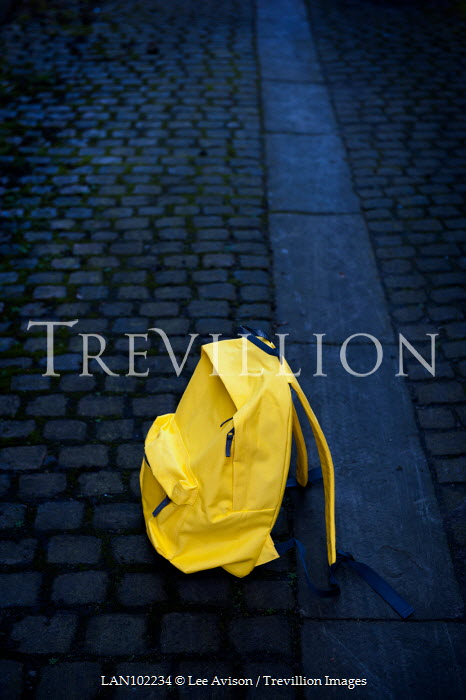 Lee Avison abandoned school bag