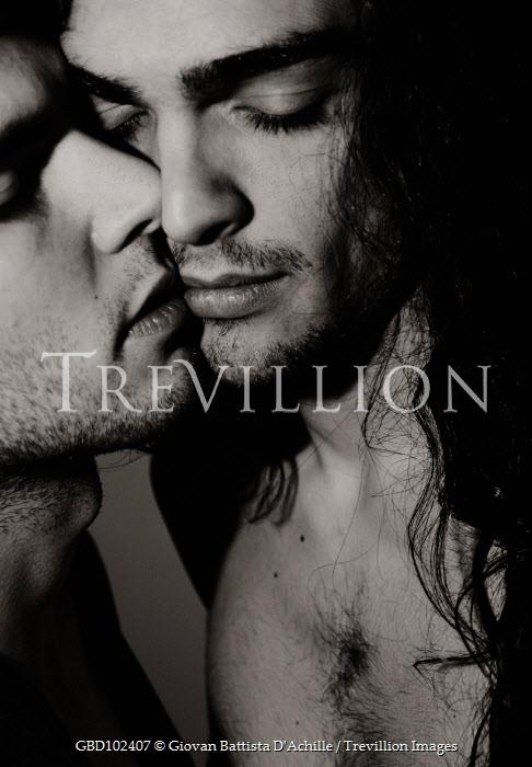 Giovan Battista D'Achille CLOSE UP OF TWO MEN KISSING Couples