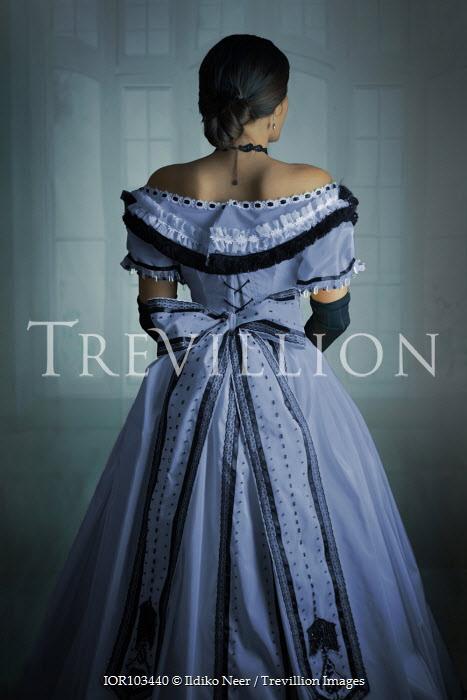 Ildiko Neer Victorian woman in purple ball gown