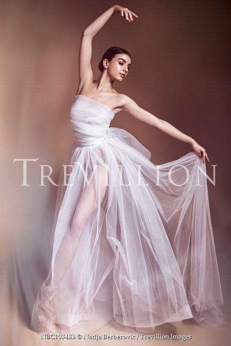 Nadja Berberovic FEMALE BALLET DANCER IN WHITE CHIFFON Women
