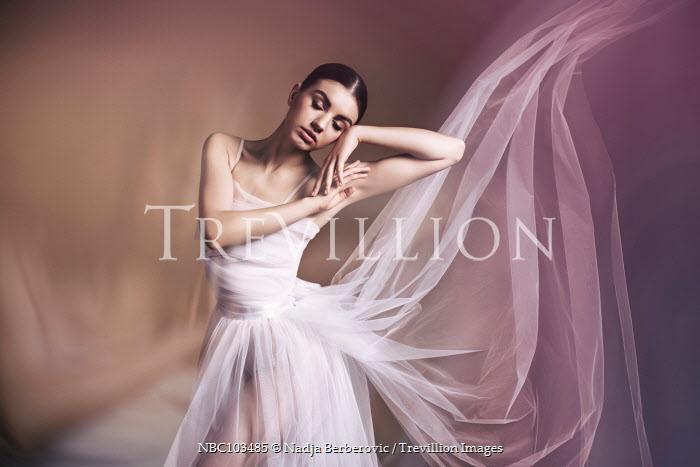 Nadja Berberovic FEMALE BALLET DANCER IN FLOWING SILK Women