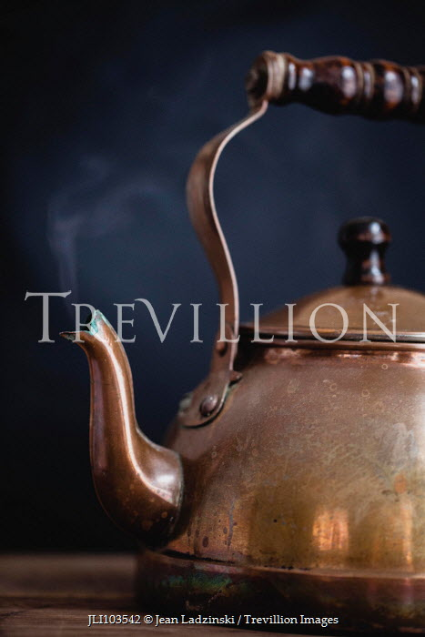 Jean Ladzinski ANTIQUE KETTLE WITH STEAM Miscellaneous Objects
