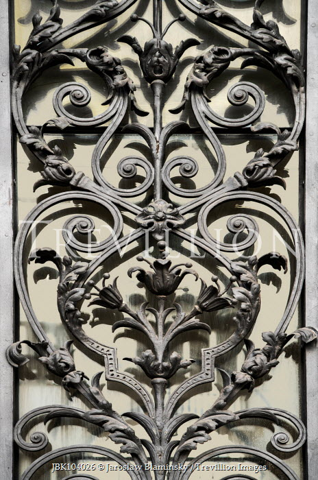Jaroslaw Blaminsky CLOSE UP OF ORNATE WROUGHT IRON Building Detail