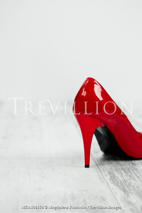 Magdalena Russocka close up of woman's red high heel shoe