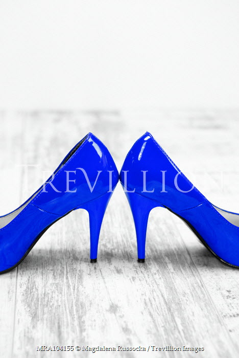 Magdalena Russocka close up of woman's blue stilettos Miscellaneous Objects