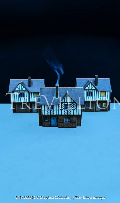 Stephen Mulcahey MINIATURE TUDOR HOUSES WITH SMOKE Miscellaneous Objects