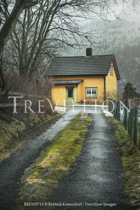 Evelina Kremsdorf ROAD LEADING TO YELLOW HOUSE Houses