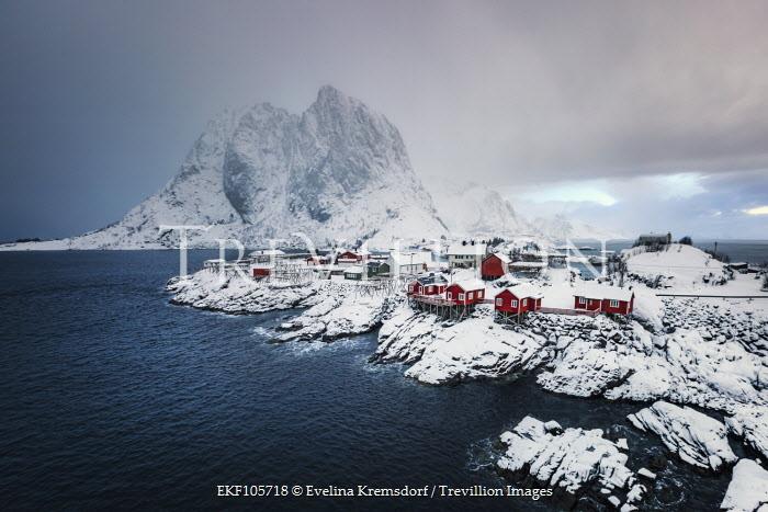 Evelina Kremsdorf ISLAND VILLAGE ON SNOWY ROCKS Houses