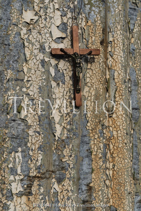 John Race CRUCIFIX HANGING ON WOODEN DOOR Miscellaneous Objects