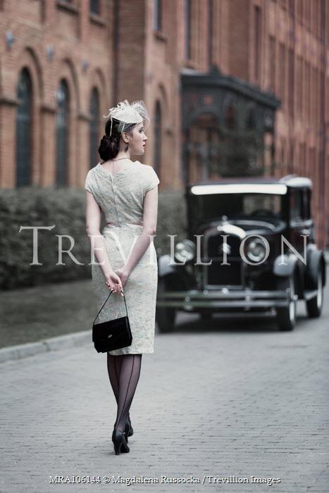 Magdalena Russocka retro woman and classic car