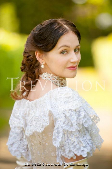 Lee Avison portrait of a beautiful brunette victorian lady