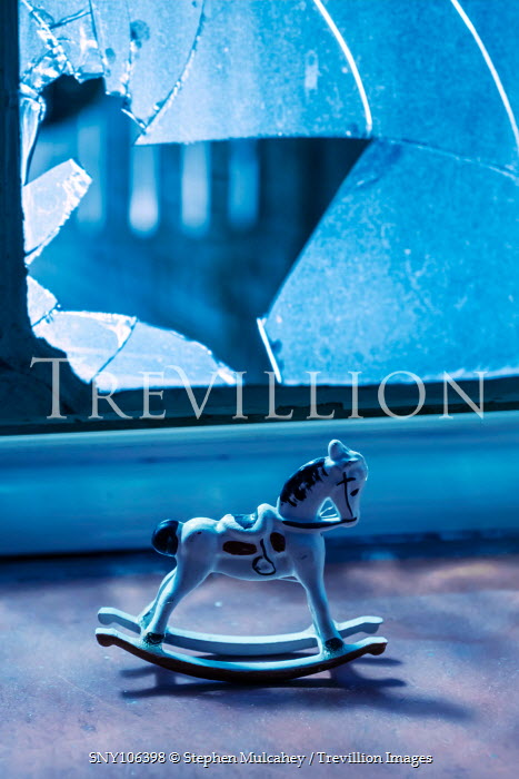 Stephen Mulcahey MINIATURE ROCKING HORSE AND BROKEN WINDOW Miscellaneous Objects