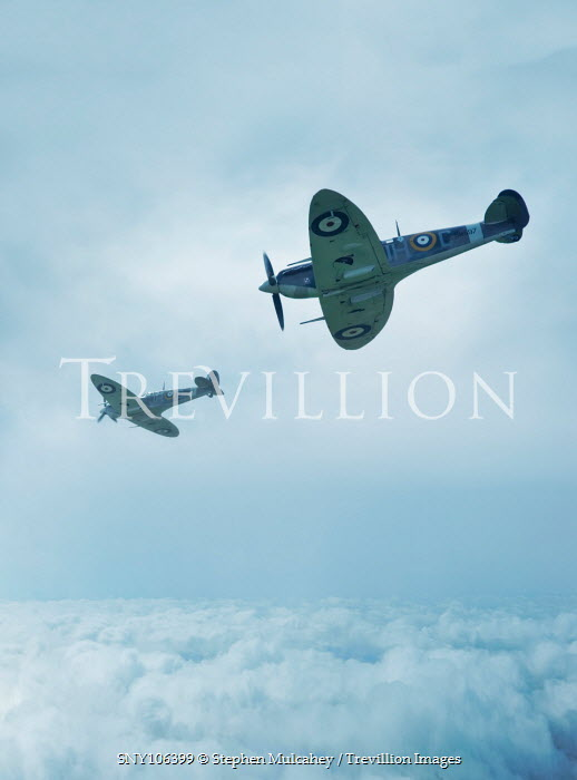 Stephen Mulcahey TWO SPITFIRE FIGHTER AIRCRAFT Miscellaneous Transport