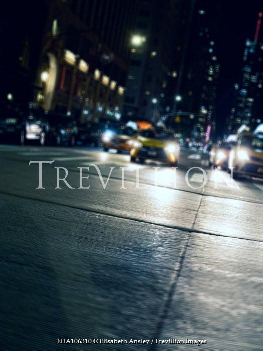 Elisabeth Ansley CARS ON CITY STREET AT NIGHT Cars
