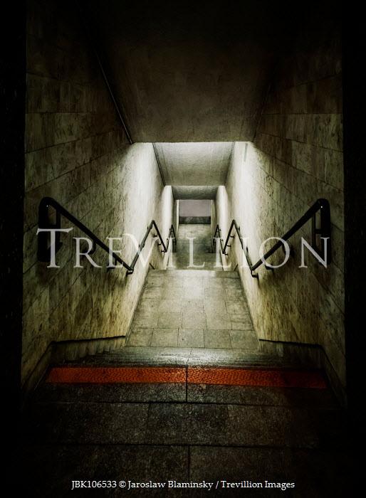 Jaroslaw Blaminsky Dim, narrow stairway underground Miscellaneous Places