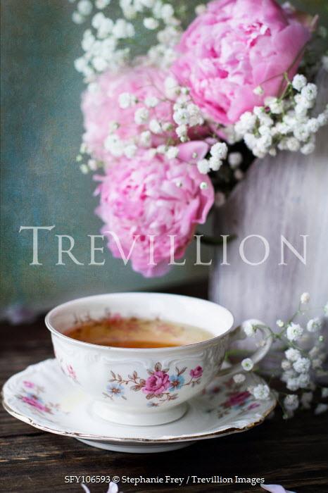 Stephanie Frey Cup of tea and flowers Flowers
