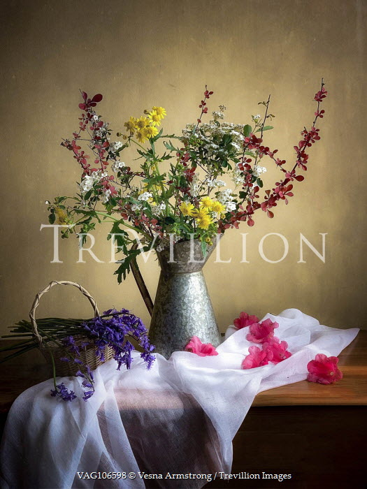 Vesna Armstrong Flower arrangements on wooden table Flowers